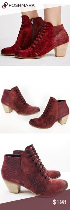 1e5062a57a1 NEW In Box 9.5 Free People Maroon Suede Boot Brand New In Box Free People