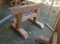 Timber frame saw horse