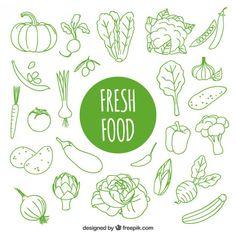 hand-drawn-fresh-food