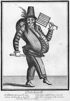 Punch, derivative of the commedia dell'arte character Polchinello Renaissance Time, Stock Character, Pierrot Clown, Jester Costume, Punch And Judy, The Great Fire, London History, Wtf Face, Theatre Costumes