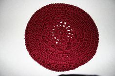 Raspberry Beret -- I made this from a pattern designed by Linda Permann, one of my favorite crochet designers.  The Bernat Satin yarn is so soft!