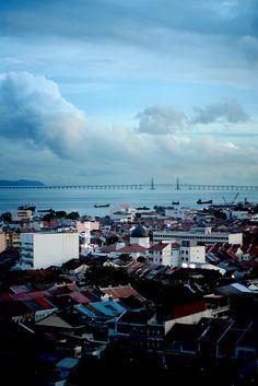 Penang bridge and the city ♥
