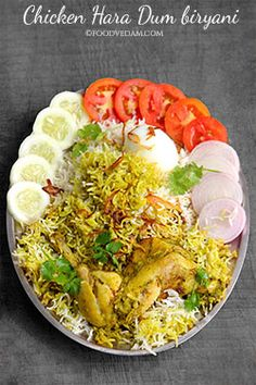 Hara chicken dum biryani is tasty and yet another tempting Biryani recipe.the main ingredient which makes this recipe special is hara masala.chicken is . Veg Recipes, Side Dish Recipes, Indian Food Recipes, Chicken Recipes, Vegetarian Recipes, Indian Foods, Prawn Recipes, Indian Dishes, Pakistani Dishes