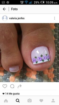 Uñas Pedicure Nail Art, Toe Nail Art, Manicure, Cute Toe Nails, My Nails, Toenail Art Designs, Cute Pedicures, Summer Nails, Nail Colors