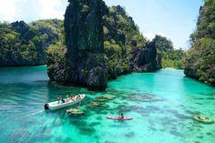 Kayaking at the Big Lagoon! El Nido Resorts - Palawan, Philippines. Beautiful!