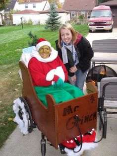 Grinch wheelchair costume  For additional resources please join us at: http://www.smartappsforspecialneeds.com