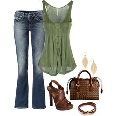 Nothing better than jeans and tank top...would prefer flip flops though