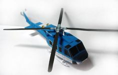 Bell 412 Helicopter Free Aircraft Paper Model Download