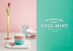 Le Creuset Cool Mint Launch Campaign #canvas #advertising #artdirection #shoot #lecreuset #coolmint #foodphotography Happy Kitchen, Advertising Agency, Le Creuset, A Boutique, Art Direction, Food Photography, My Design, Campaign, Product Launch