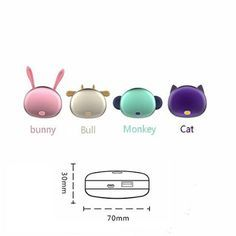 Amazon.com : BRTONG® 4500mAh Cute-Shaped Rechargeable Double-Sided Compact Hand Warmer, Portable Charger External Battery Pack Power Bank for iPhone, iPad, Samsung Galaxy and Other Mobile Devices [Bunny, Pink] : Patio, Lawn & Garden