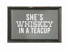 Whiskey in a teacup print