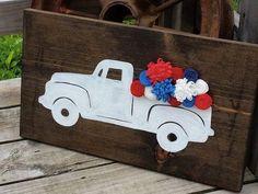 Patriotic Crafts, July Crafts, Summer Crafts, Holiday Crafts, Diy And Crafts, Wood Crafts, Patriotic Room, Patriotic Wreath, Holiday Fun