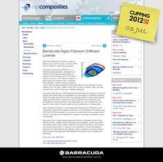 ::NetComposites::  Barracuda sings Polyworx software license  Acesse o link da matéria http://www.netcomposites.com/news/barracuda-signs-polyworx-software-license/7558