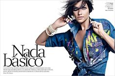 Embellished Denim Editorials - The Nada Basico Vogue Brazil Image Series Celebrates Opulent Styling (GALLERY)