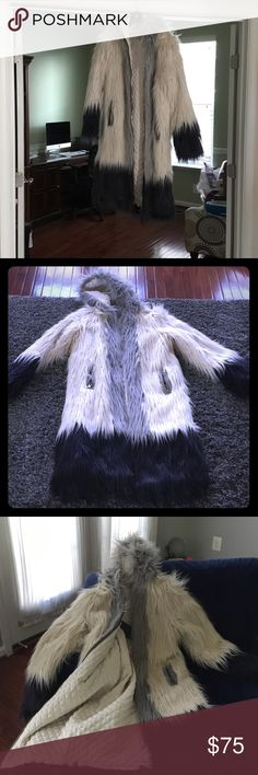 Fabulous faux fur coat!!!! The most fun and fab coat ever.  Way too long for my short height, but would look sooo amazing on a tall gal! Or Guy!  It's awesome. Chaser Jackets & Coats