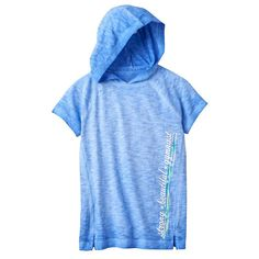 Girls 7-16 & Plus Size SO® Short Sleeve Active Hoodie, Girl's, Size: 12, Med Blue
