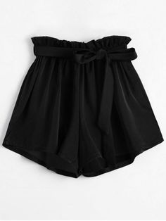 Shorts For Women Black High Waisted Shorts, Belted Shorts, Black Shorts, Tween Fashion, Trendy Fashion, Fashion Black, Shorts Negros, Cute Outfits, Summer Outfits