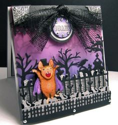 BOO!! :)  This is one of the cutest Halloween cards I have ever seen.