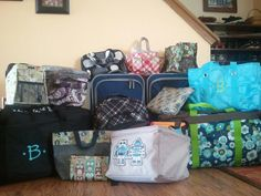Glory Itches: Large Family Car Travel Tips: Suitcase Organization