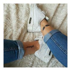 xxxx - Tattoos and more - Minimalist Tattoo Bff Tattoos, Girly Tattoos, Mini Tattoos, Anklet Tattoos, 4 Tattoo, Dream Tattoos, Cute Tattoos, Body Art Tattoos, Small Tattoos