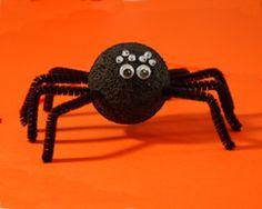 Thursday, October 23, 2014. Stoyrofoam Ball Spiders!