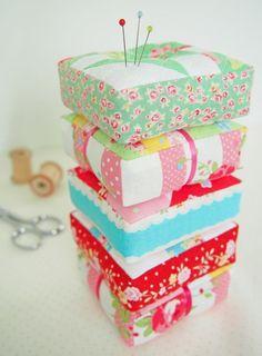 quilt block pincushions
