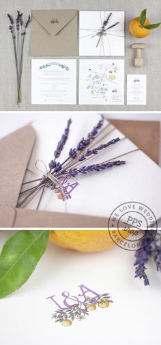 Boda personalizada PPStudio para Isabel & Angel  http://www.projectpartystudio.com/bodas-personalizadas-2/isabel-angel.html #boda #invitacion #wedding #stationery #ppstudio #handmade #stamp #sello #lavanda #orange #naranja #lavander