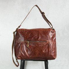 Vintage Leather Large Capacity Coffee Shoulder Bag