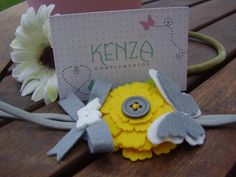 Diademas - Diadema flor, lazo y mariposa ref:005 - hecho a mano por KENZA-COMPLEMENTOS en DaWanda