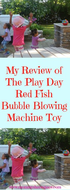 My kids love playing with bubbles. However, it always turns into a mess. Either with them frustrated that they can't blow the bubbles or me tired of just sitting there blowing bubbles. I stumbled upon this Play Day Red Fish Bubble Blowing Machine Toy, and both my hubby and I love it!