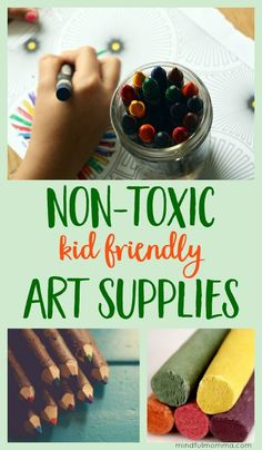 Resources for buying safe, non-toxic art supplies so your kids can get messy and creative without worry over exposure to toxic chemicals. safe and natural products kid friendly gifts arts & crafts School Lunch, School Snacks, Healthy Kids, Healthy Living, Kid Friendly Art, Eco Friendly, Activities For Kids, Crafts For Kids, Eco Kids