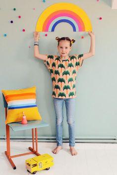 Sommerliches Shirt mit Palmen für Kinder / teeshirt with palms for kids made by Bonnie & Buttermilk Kids via DaWanda.com