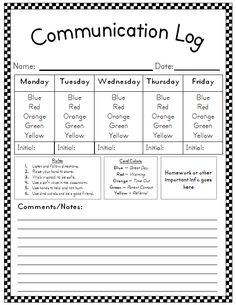 Weekly behavior communication logs! <3 it.