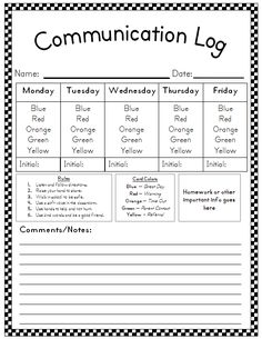 Weekly behavior communication logs! <3  it.