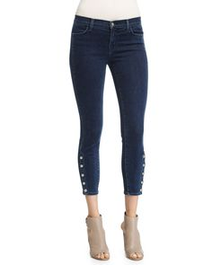 J Brand Jeans Suvi Skinny Cropped Jeans, Allegiance, Size: 26
