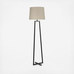Minimalism at its finest, the Ranger table and floor lamp collection combine to create a magnificent illustration of open frame architecture. Featuring a single geometric shape and balanced with a crossing bar at the base, this lamp collection exhibits the refining qualities of mid-century modern style with a modern design sensibility.