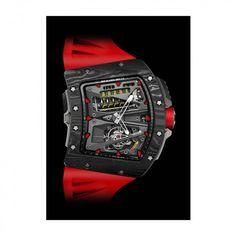 See the Richard Mille RM Tourbillon Alain Prost watch - Movement : Manual-winding mechanical - Case : Carbon Ring Bracelet, Bracelets, Alain Prost, Unique Clocks, Richard Mille, Animal Kingdom, Belt, Watches, Rings