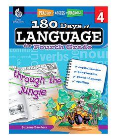 Loving this Grade 4 180 Days of Language Workbook on #zulily! #zulilyfinds