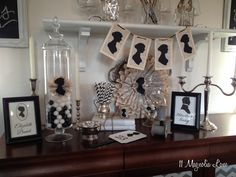 Jane Austen Regency-Style decor made with the Silhouette CAMEO