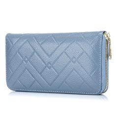 Embossed Genuine Leather Zipper Wallet New Fashion Women Wallets Casual Wallet Women Purse Design Hand Bags for Women Purse