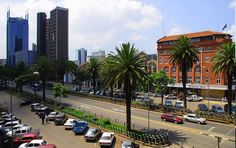 This is the central business district of the beautiful city of Nairobi, Kenya.