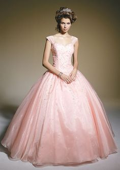 Pink Wedding Gowns – of brides choose a white, cream or ivory wedding dress. Light Pink Wedding Dress, Pink Wedding Gowns, Wedding Gowns With Sleeves, Pink Gowns, Prom Dresses With Sleeves, Best Wedding Dresses, Ball Dresses, Dress Wedding, Pink Dress