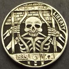 SHANE HUNTER HOBO NICKEL - DEATH ROW - 1935 BUFFALO NICKEL