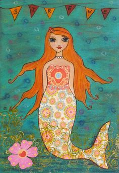 mermaid collage | Mermaid Collage Painting Art by Sascalia | Flickr - Photo Sharing!