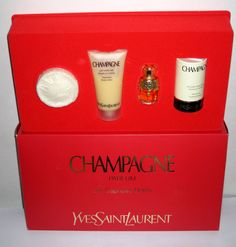 Yves Saint Laurent YSL Champagne Gift Set - Quirky Finds - Always in Love with Vintage!