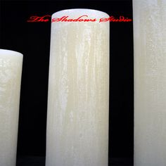 Whether you're looking for candles for your rustic patio or an elegant wedding.Shadows is perfect! The picture shows you what elegant candles The Shadows Studio hand pours! Giant Candles, Large Pillar Candles, Rustic Candles, Rustic Patio, Elegant Wedding, Shadows, Studio, Rustic Backyard, Darkness