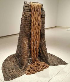 "Hyperallergic: Barbara Chase-Riboud ""The Cape (Le Manteau) or Cleopatra's Cape"" from the exhibition . Textile Sculpture, Textile Art, Textiles, Fibres, Cleopatra, Fiber Art, 3 D, Art Gallery, Creations"