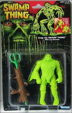 """swamp thing - design: I don't know how I came to own it, but I owned this action figure. It had a name, and it was from a movie, but who cares what the packaging said? I was already making things up. He had a clumsy backstory, weird superpowers, and his name was """"Monkey Man"""""""