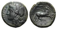 Sicily, Syracuse. Hiketas II (287-278 BC). ...