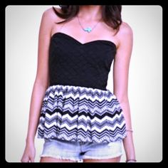 NWOT Strapless Peplum Top - PRICE IS FIRM Brand new with out tags Kendall & Kylie Tops